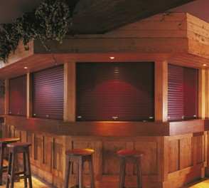 seceuroguard 3801 on bar servery shutter for security and aesthetics