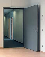Inside installed steel door set